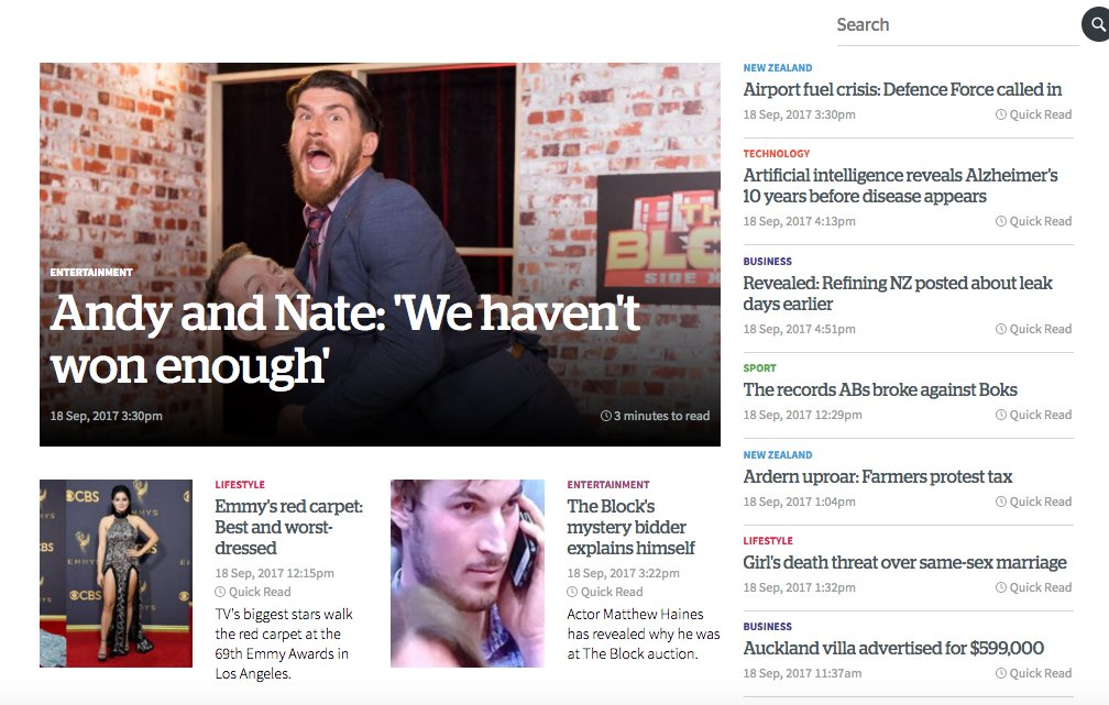 Five days until a nail-biter of an election, but it's so hard to find election news on New Zealand's main websites @nzherald and @NZStuffpic.twitter.com/ ...