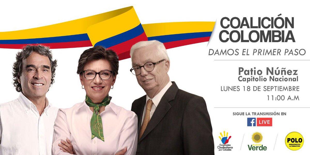 Mañana a las 11 am. En Bogotá damos el primer paso. #sepuede https://t.co/3RSbli3uFQ