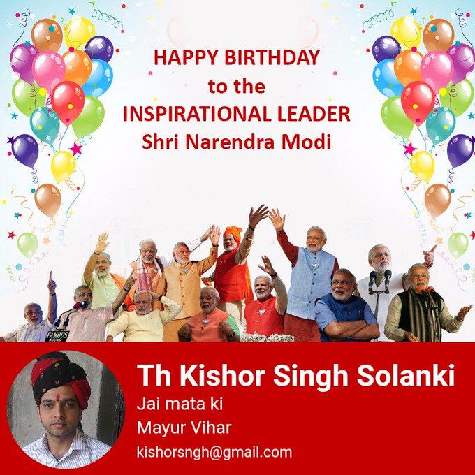 Happy birthday shri narendra modi G