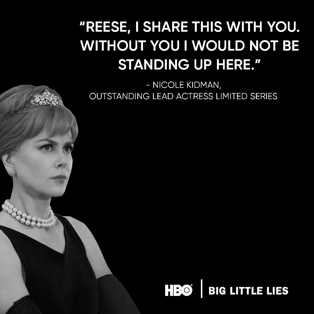 Breathtaking performance, Nicole Kidman. Congratulations. #BigLittleLi...