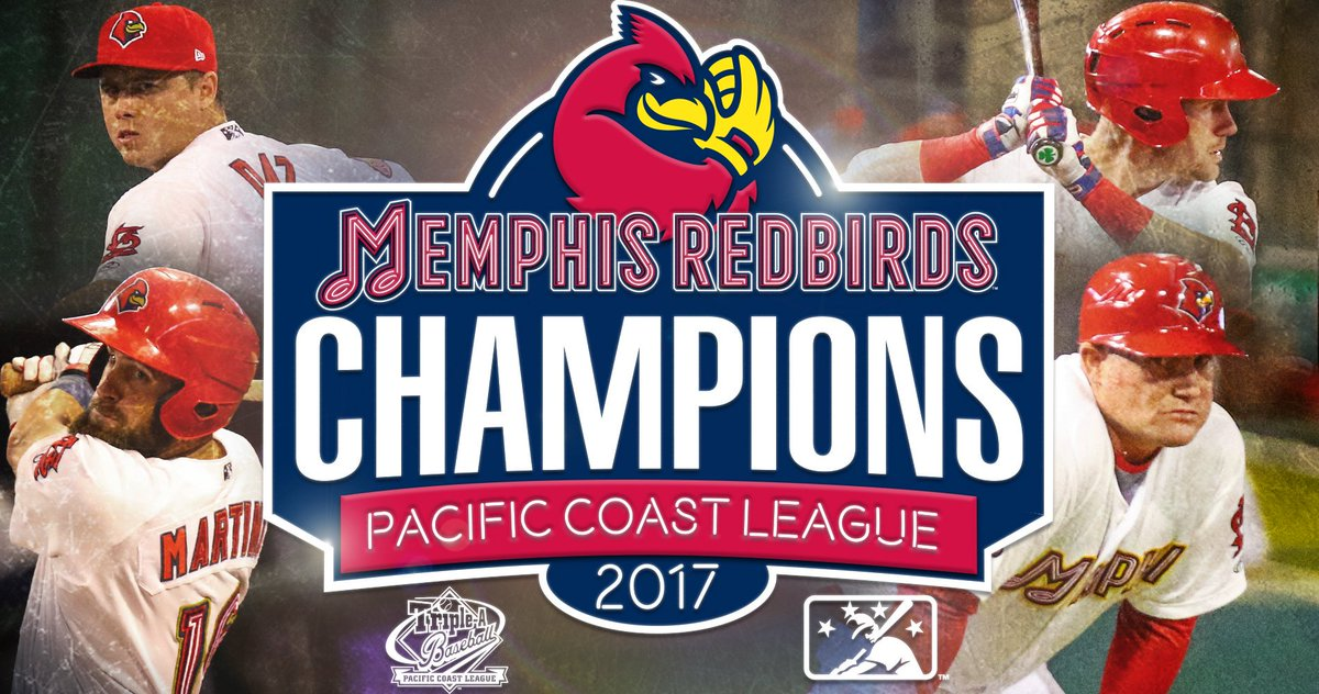The Redbirds are the 2017 Pacific Coast League champions!  The hardware is coming to Memphis! https://t.co/iyHv5DLHYA