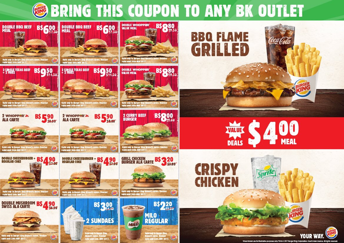 Menus Burgers Burger King Carte.Burger King Brunei On Twitter Great News Everyone Our Bk