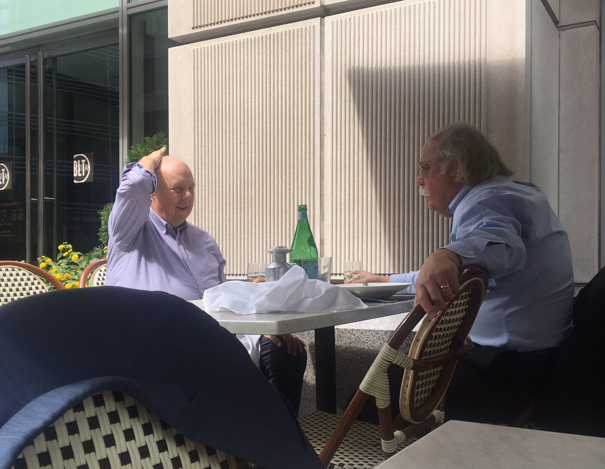 Here's a photo of Ty Cobb & John Dowd casually & loudly discussing details of Russia investigation at  while @BLTSteakDC I sat at next table.