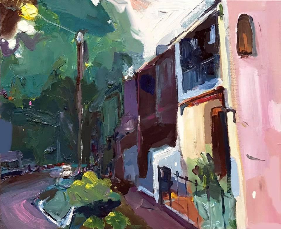 """""""quiet street, alexandria"""" 35X45 #oilinlinen #alexandria #sydney #australia #modernart <br>http://pic.twitter.com/kSWVRa8a9F"""