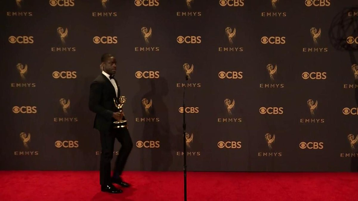 Sterling K. Brown just finished his best actor speech backstage after getting cut off during CBS' live telecast (Watch) #Emmys