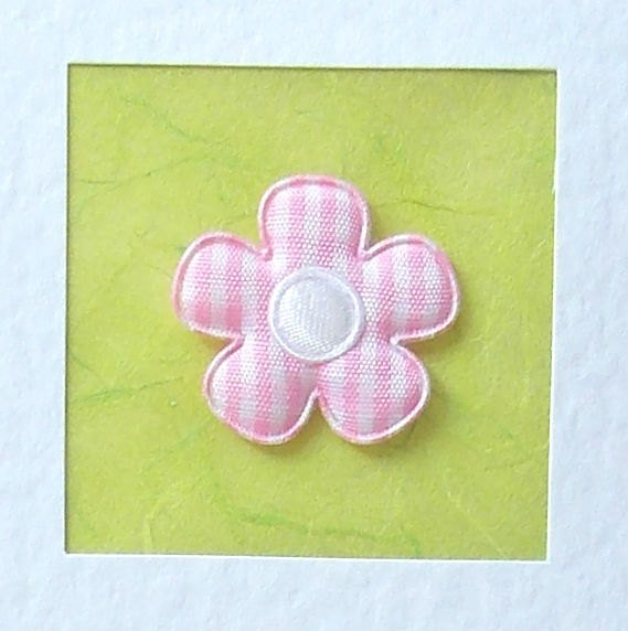 Good Luck Card - pink gingham fabric flower with white satin centre - mum,…  http:// etsy.me/2rbUgcX  &nbsp;   #cards #Handmade<br>http://pic.twitter.com/9gTUPdxjne