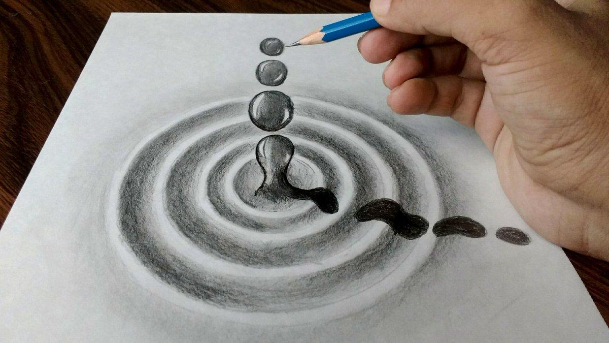 deepak kumar singh on twitter 3d trick art on paper by me watch