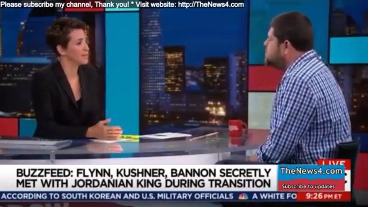 .@maddow reports YET ANOTHER SECRET MEETING between #Kushner,#Bannon, #Flynn &amp; King of Jordan #TheResistance #CNN #MSNBC<br>http://pic.twitter.com/Y1BHAg86F8