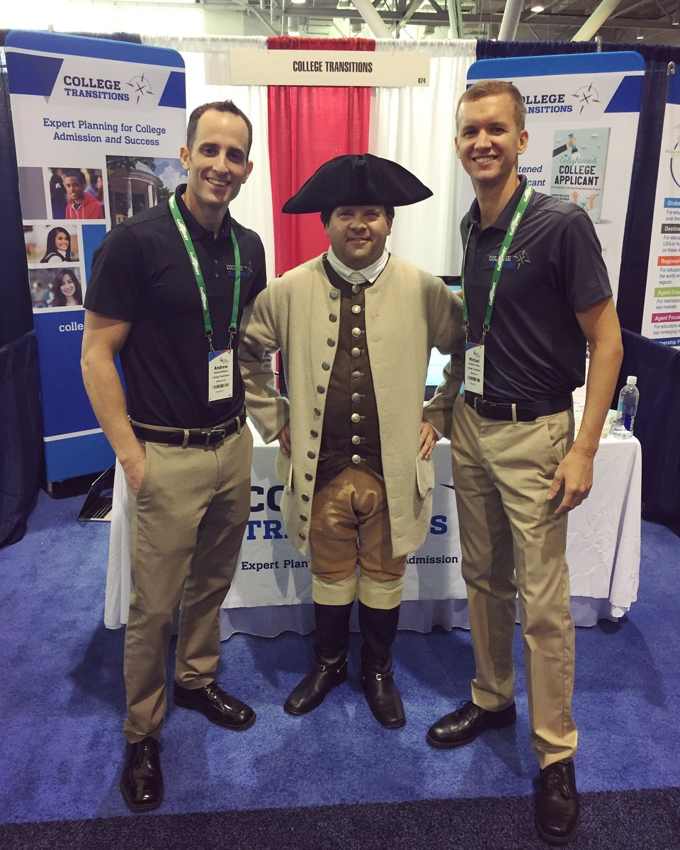 Even Paul Revere is a fan of our book, The Enlightened College Applicant. Stop by #674 at @NACACConference to win a free copy! #nacac17 <br>http://pic.twitter.com/V3TZrxHCT7