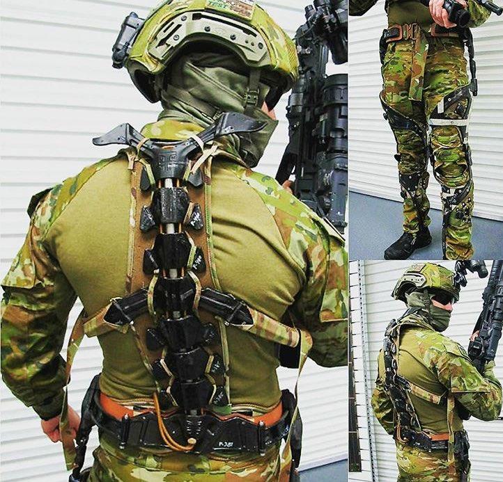 オーストラリア軍がテスト中のカナダ製エクソスケルトン