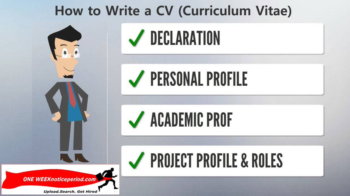 To write a cv student