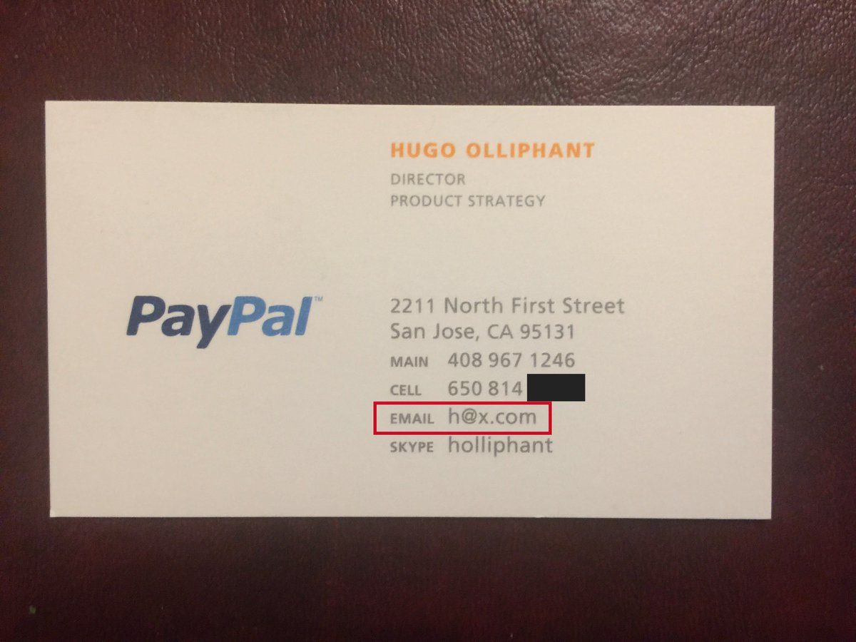 Hugh olliphant on twitter just ran across my old business card hugh olliphant on twitter just ran across my old business card with the worlds coolest email address elonmusk can i have it back reheart Gallery