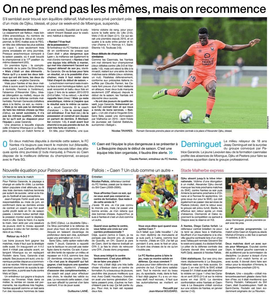 [6e journée de L1] FC Nantes 1-0 SM Caen DJ0uaDlW4AAnI1c