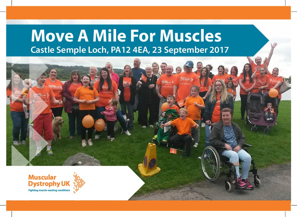 Join @MhairiBlack &amp; families week today for @MDUK_News Move A Mile for #Muscles #charity event #CastleSempleLoch &gt;  http:// bit.ly/CastleSemple  &nbsp;  <br>http://pic.twitter.com/JlDyINRma9