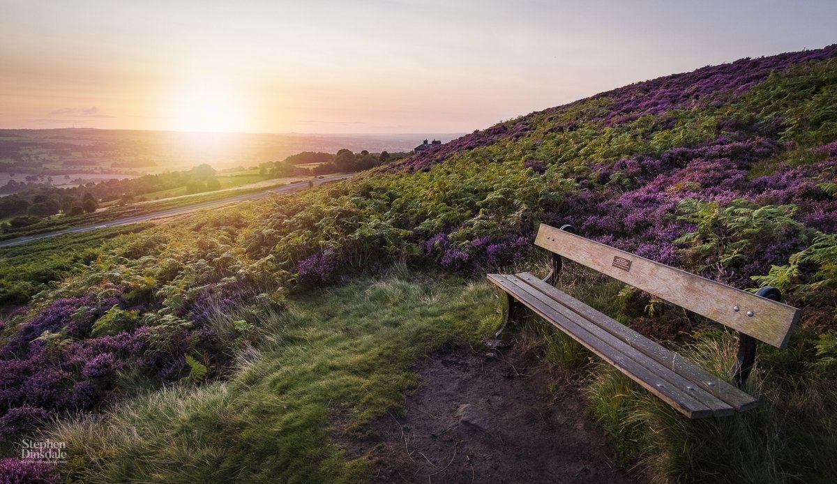 Take a seat and soak up the view  #Ilkley #bradford #yorkshire #moors #rambling #walking #view #yorkshiredales #sunrise<br>http://pic.twitter.com/fTUsbnJMwH