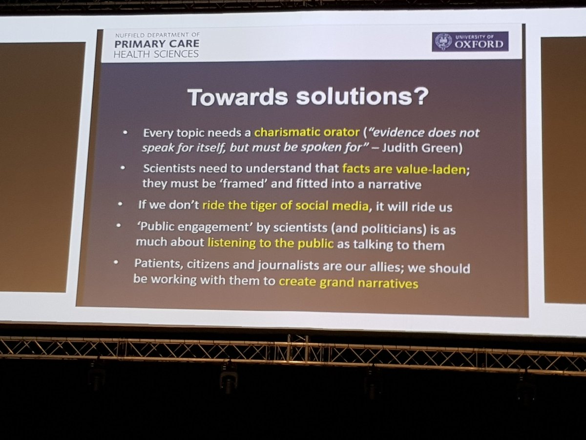 &#39;Patients, citizens and journalists are our allies; we should be working with them to create grand narratives&#39; @trishgreenhalgh #GESummit17 <br>http://pic.twitter.com/0asIgFgIDm