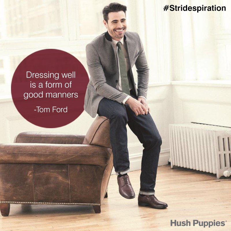 """İyi giyinmek iyi bir davranış şeklidir.""  - Tom Ford  #hushpuppies #hushpuppieshoes #shoesoftheday #shoeslover #shoesaddict #loveshoes https://t.co/vgjJPwwB3T"