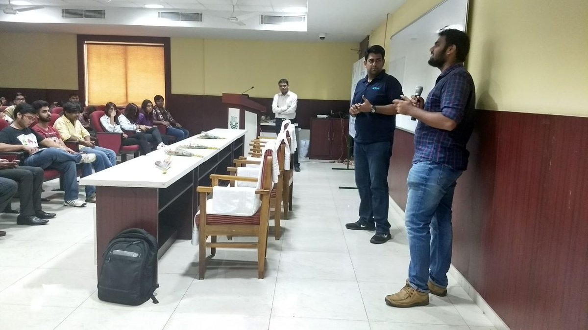 Abhishek Pandey #KPITSparkle past participant from .@KIITUniversity attend innovation session &amp; shares his experience of sparkle.<br>http://pic.twitter.com/tZQNWIsOu3