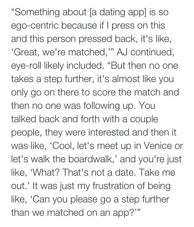 On dating girls