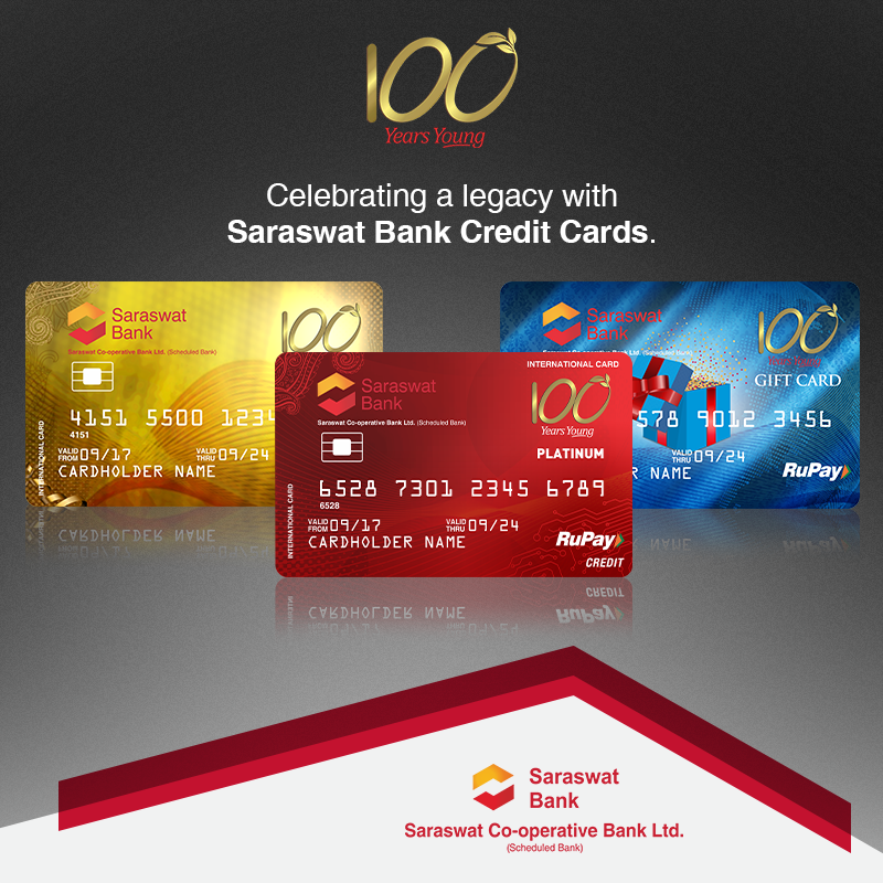 "century bank credit card Saraswat Bank on Twitter: ""To mark a century of service, love ..."