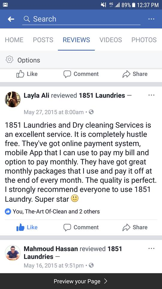 Reviewed services