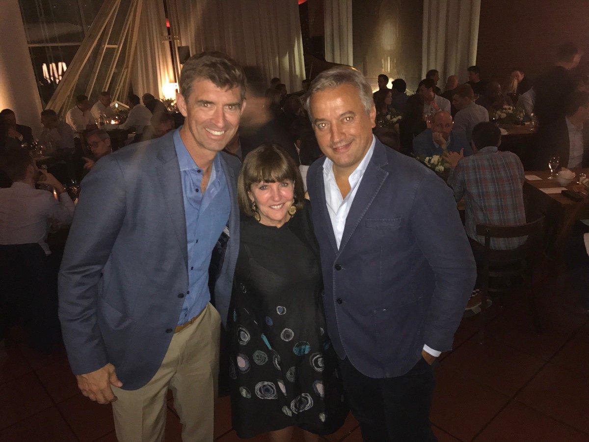 Great times at @MediaLink #dmexco dinner w/ @oath John DeVine, Wenda Millard and @havas global media boss @domdelport (r)<br>http://pic.twitter.com/pMqLldQ1ZO