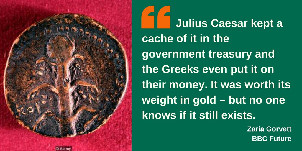 The mystery of the lost #Roman #herb, #silphium &gt;&gt;   http:// ow.ly/rkDC30f0Ces  &nbsp;   @BBC_Future @NaturePlants<br>http://pic.twitter.com/4Yec4CNqad