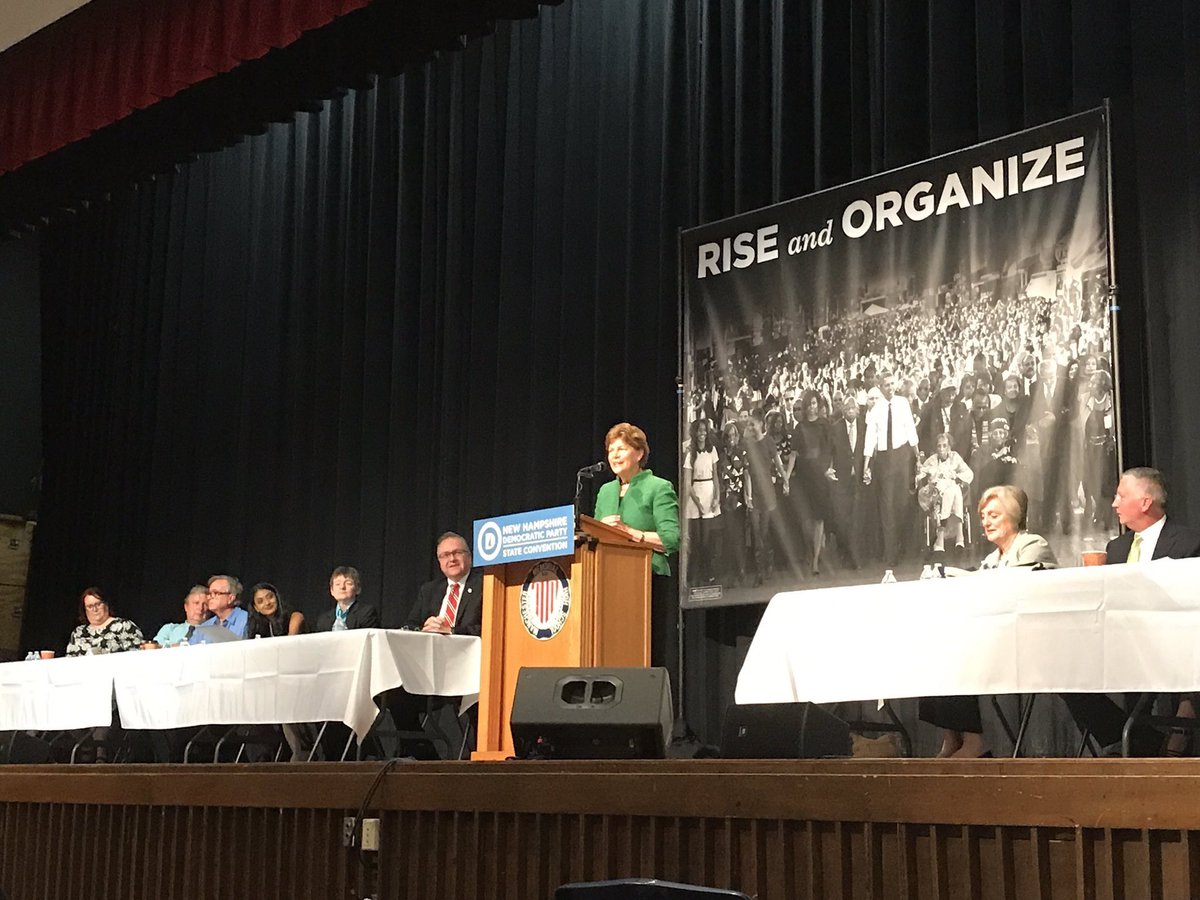 Thrilled to join a packed @NHDems convention today! #RiseandOrganize #NHDems2017
