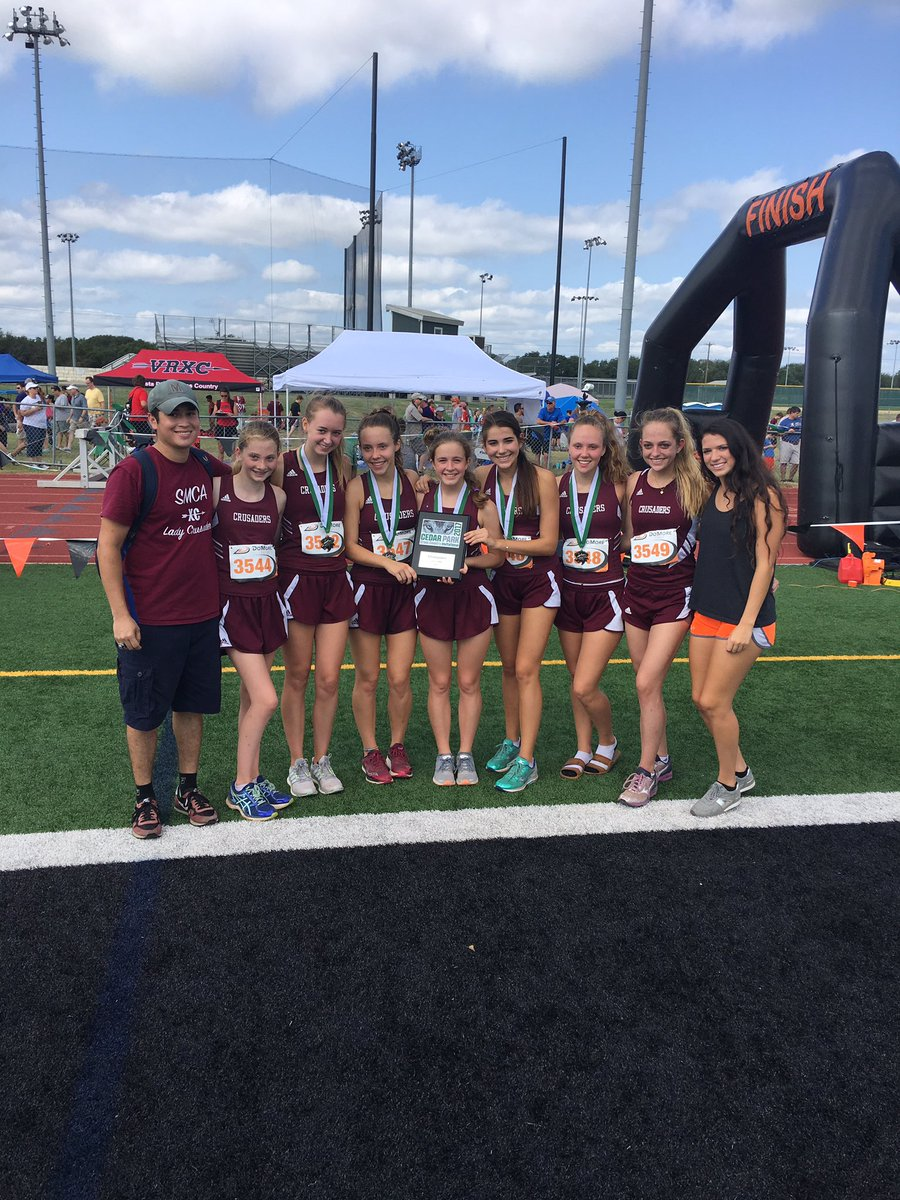 .@SMCACrusaders take the 1st Place @CPHS_XC Invite today! Congrats #runwithwolves @TXMileSplit @txrunning<br>http://pic.twitter.com/SKD7DuSuFq