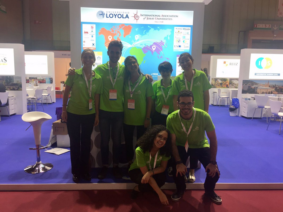 These @LoyolaAnd students worked for the @TheEAIE this past week and did an amazing job. We are so proud of you! #LoyolaGlobal #EAIE2017 <br>http://pic.twitter.com/XpfbvrEr2h