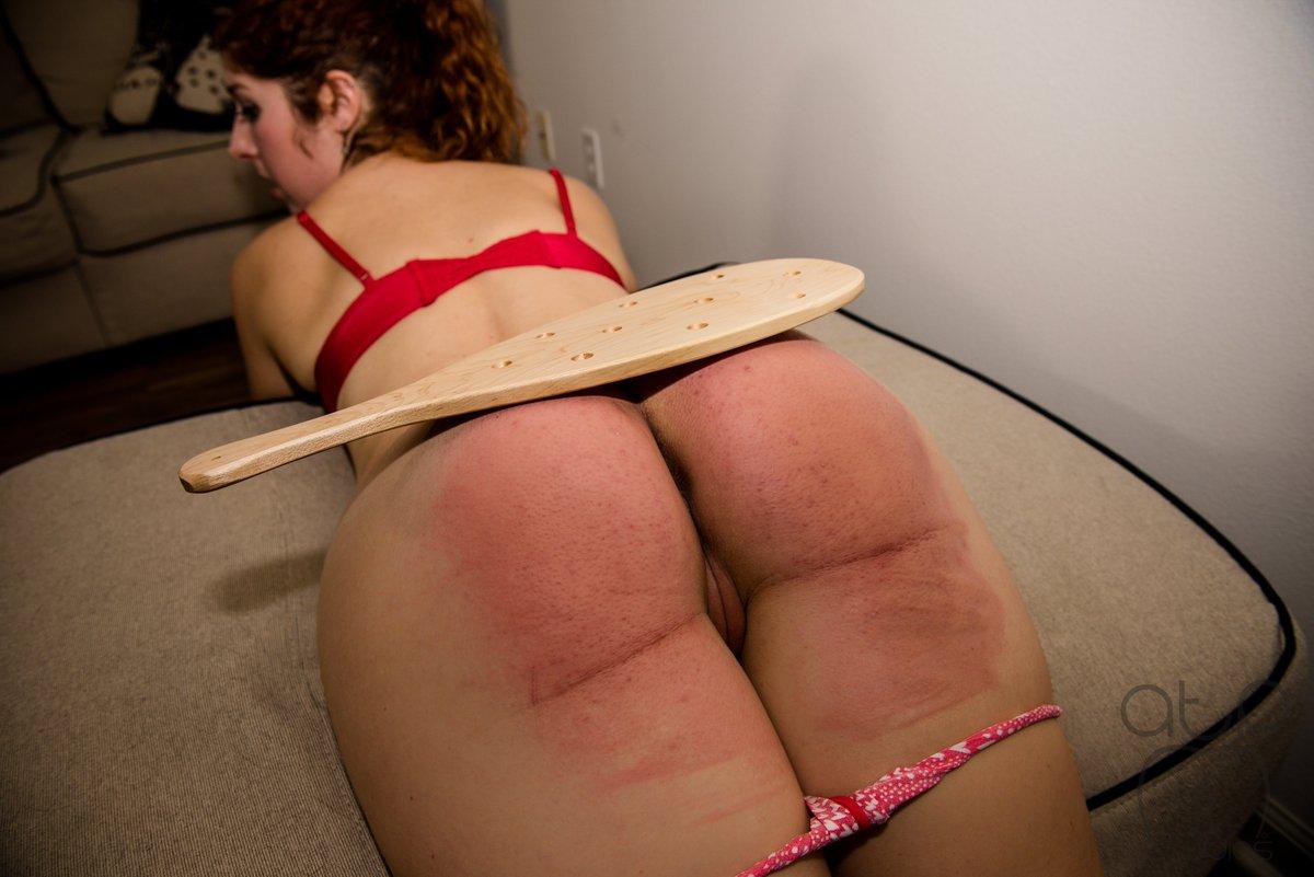 Severe belt spanking