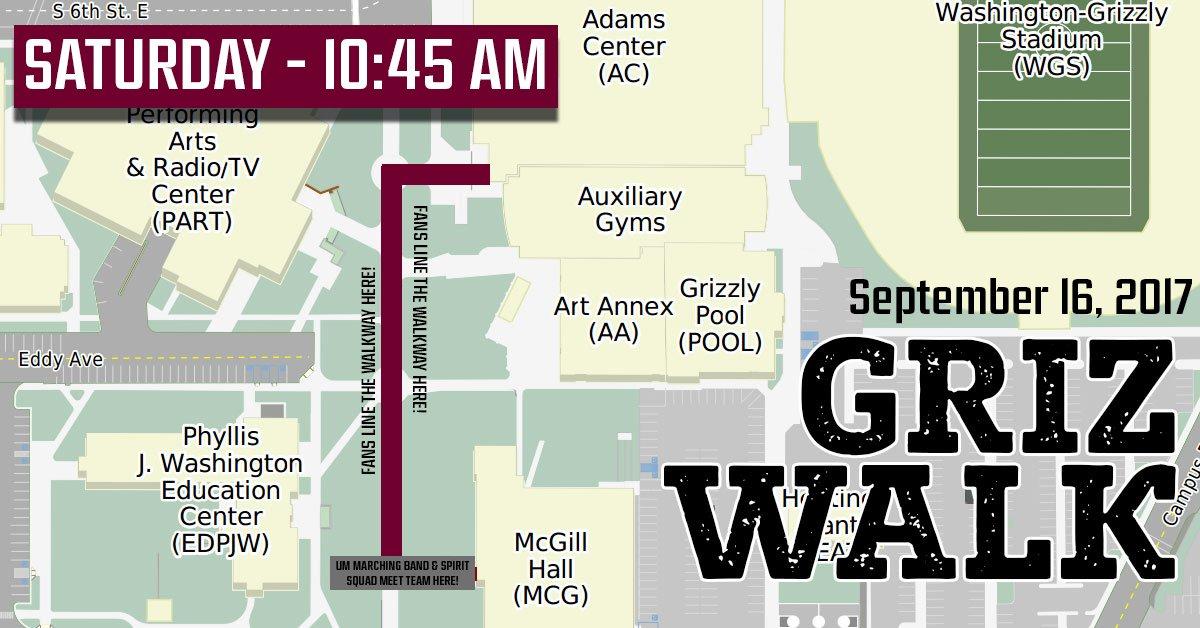 Montana Grizzlies On Twitter Griz Walk Today Griz Vs