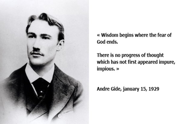 RT @jeanrossignol: Andre Gide Wisdom begins where the fear of God ends  (january 15, 1929)  Atheist Atheism #Atheism https://t.co/FzjPgQQGVF
