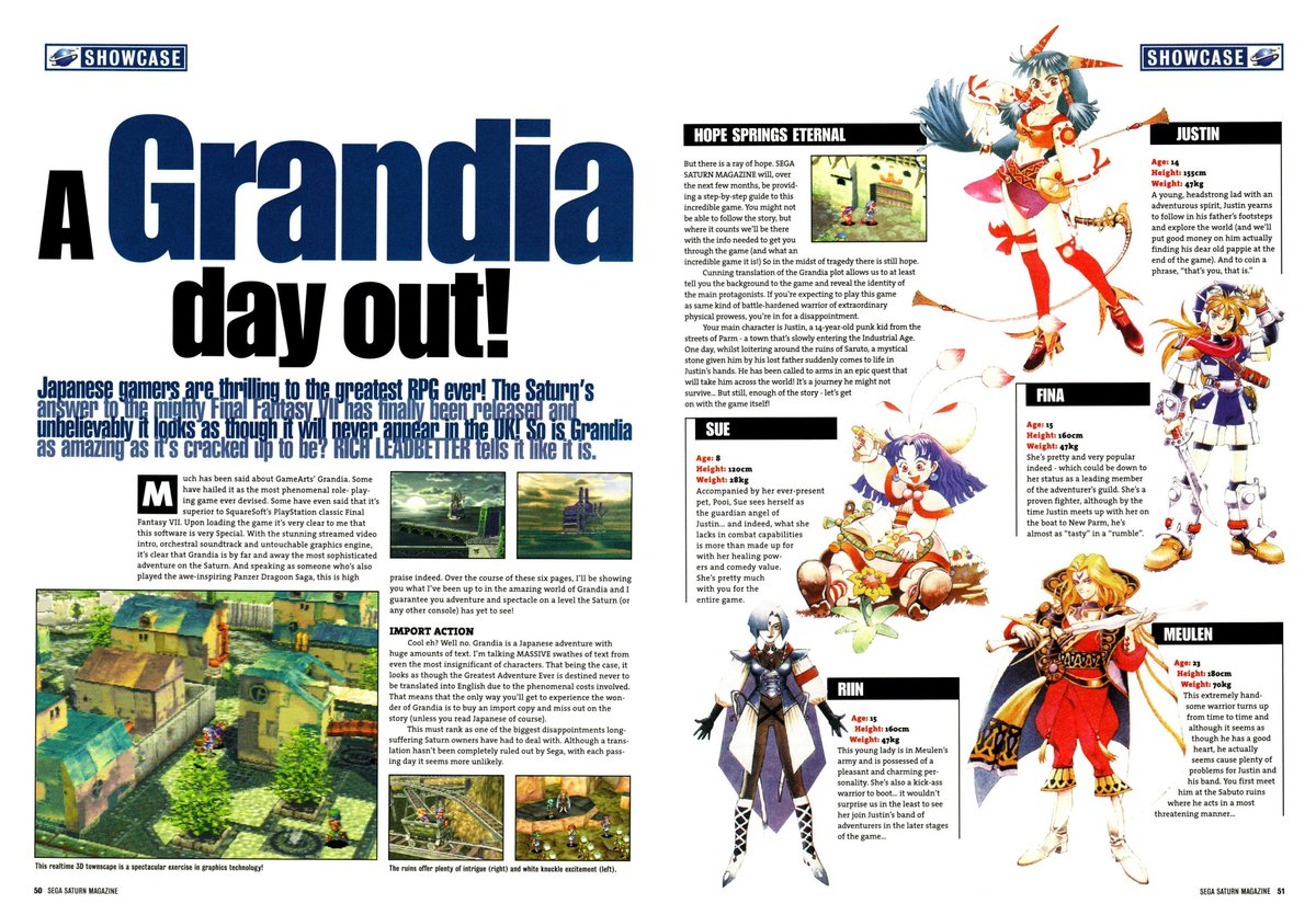So Pleasant It Is To Have Money Heigh >> Retrogamegeeks On Twitter Grandia Here S A Preview For The