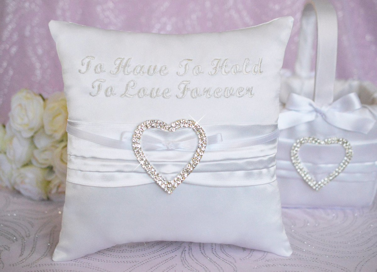 To Have To Hold To Love Forever #Rhinestone Heart Ring Pillow &amp;Basket  http:// etsy.me/2w0nGsS  &nbsp;   via @Etsy #wedd #mywedding #romantic #etsymntt<br>http://pic.twitter.com/fj9HmMQZzl