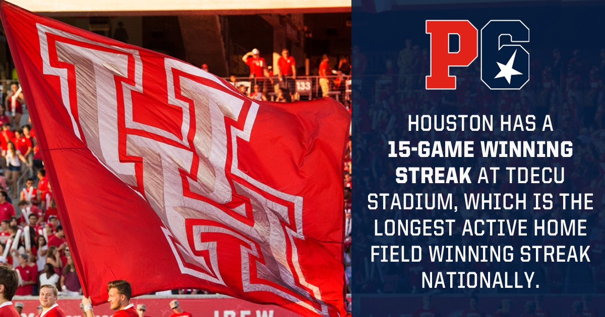 TDECU Stadium has not been kind to visiting teams. Isn't that right, @UHCougarFB?  https://t.co/XS2aRtkMRt https://t.co/JBE3VbYicp
