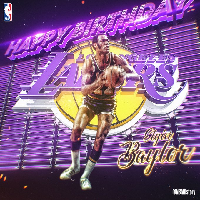 NBAHistory: Happy 83rd Birthday to 11x All-Star & Hall of Famer, Elgin Baylor!