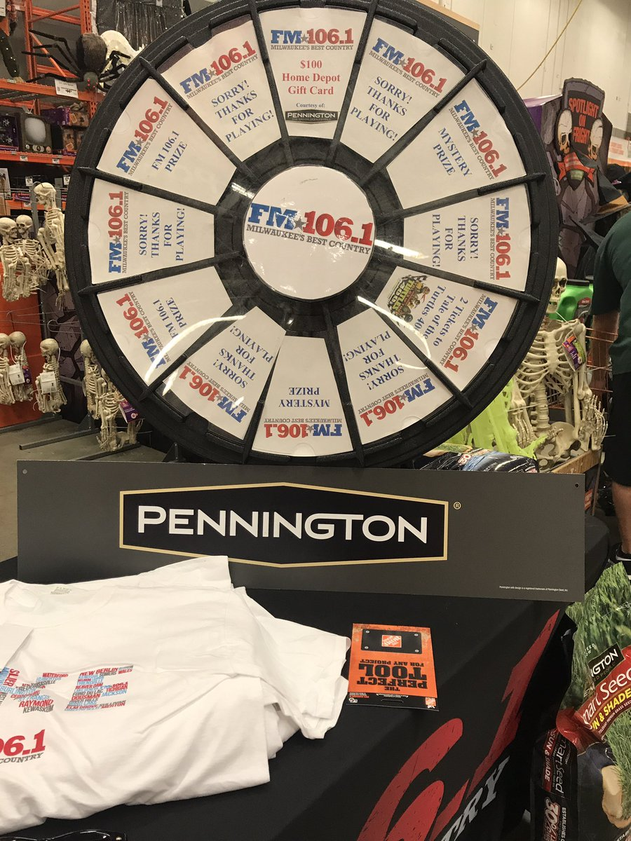 Fm106 1 On Twitter Spin Our Prize Wheel At Home Depot In West