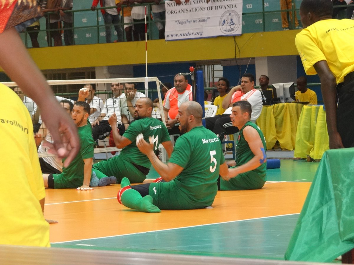 Egypt now leading with 2 - 1 Morocco, #2017AFchamps #SittingVolleyball @Paravolley  Coming next #RWA v #ALG <br>http://pic.twitter.com/BiyUT3IqFi