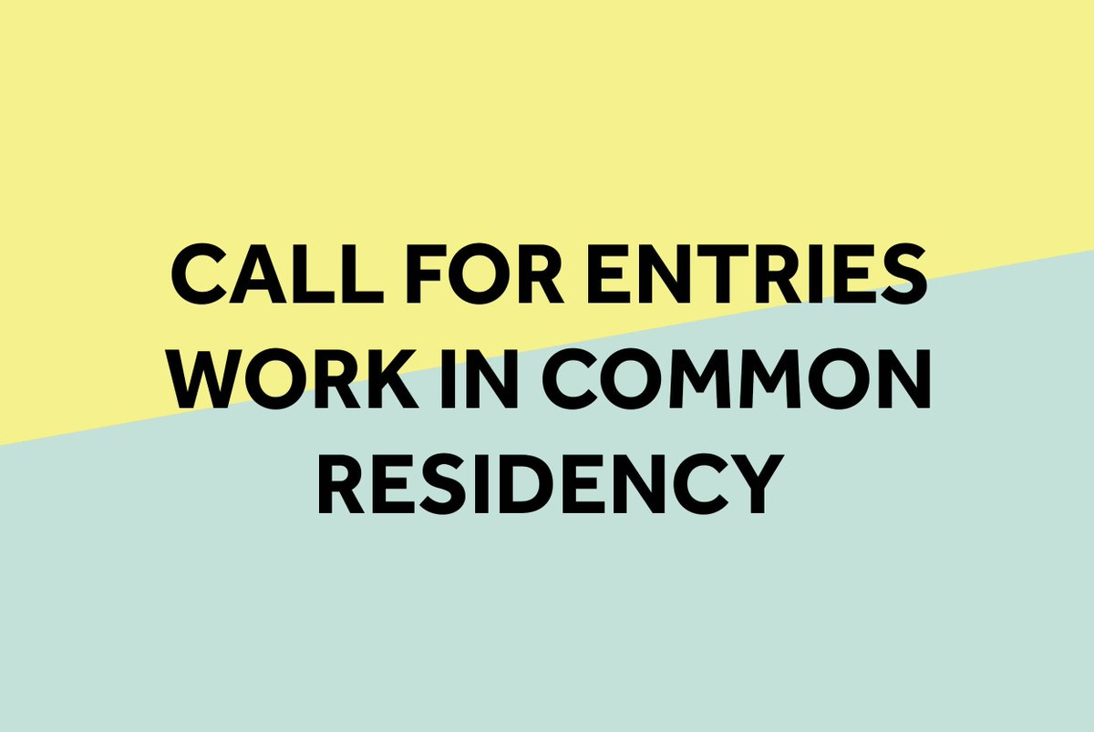 Final chance to apply! #WorkinCommon #Residency w/ @ukyoungartists @Bjcem #collaboration #interdisciplinarity  https:// buff.ly/2x4ihor  &nbsp;  <br>http://pic.twitter.com/6e6Tz5iR1L