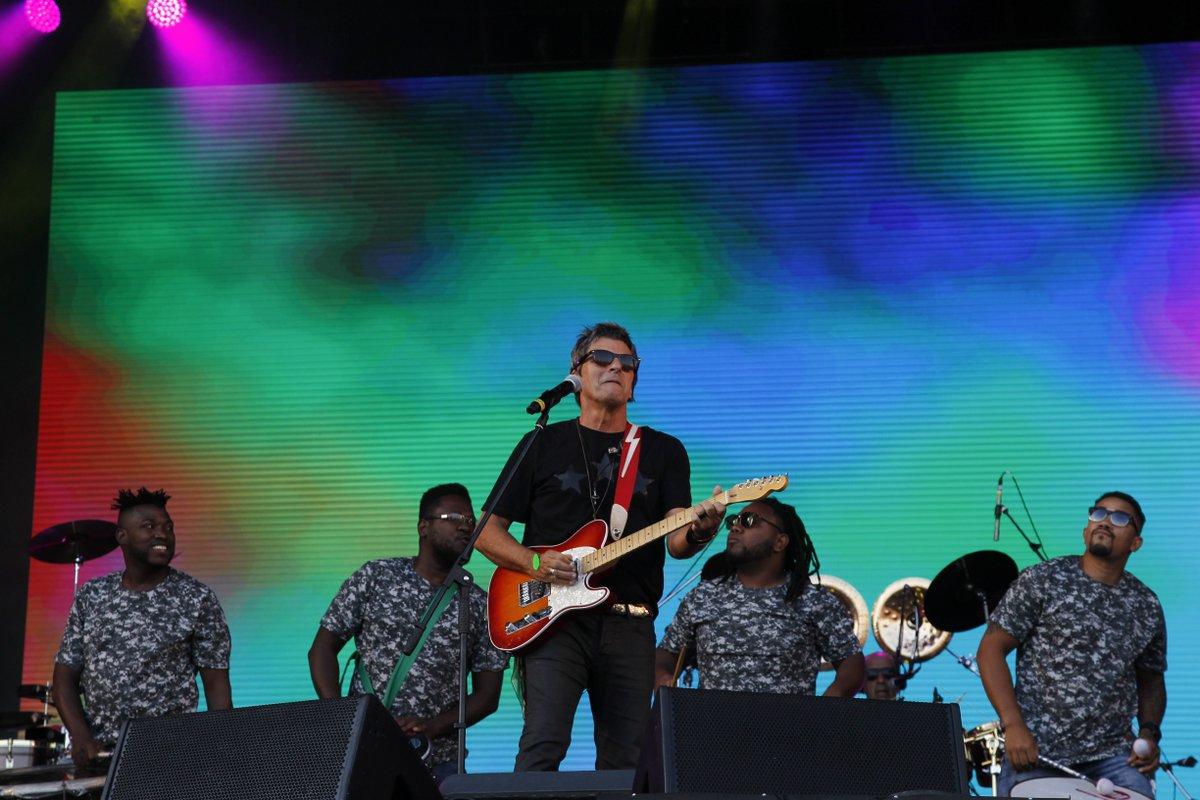 A banda Blitz botou a galera para dançar no palco Sunset. A próxima atração será o encontra entre Elza Soares o rapper Rael. #RockinRio