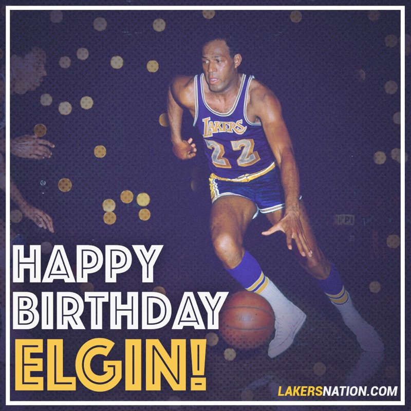 Happy Birthday to Lakers legend Elgin Baylor who turns 83 today