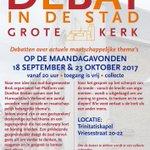 Ma. 18/9 Debat in de Stad over Armoede & de maatschappij. Trinitatiskapel Dordrecht, 20.00 uur, gratis toegang.