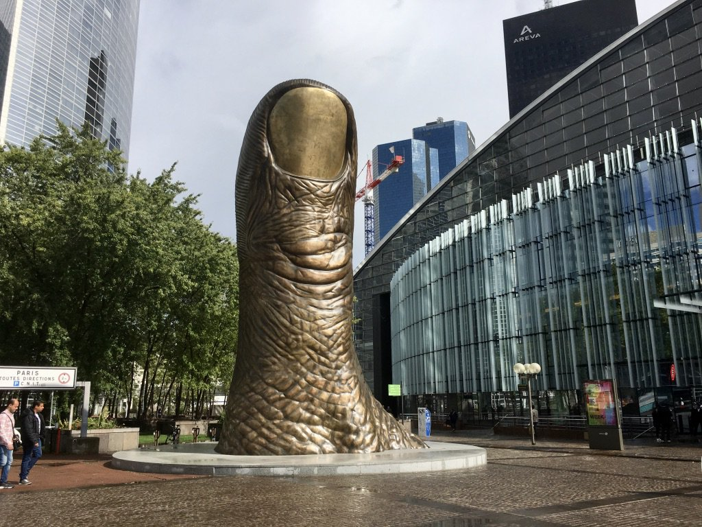 "soundlandscapes on Twitter: ""'Le Pouce': César Baldaccini's iconic 40-foot  thumb in La Défense this afternoon.… """