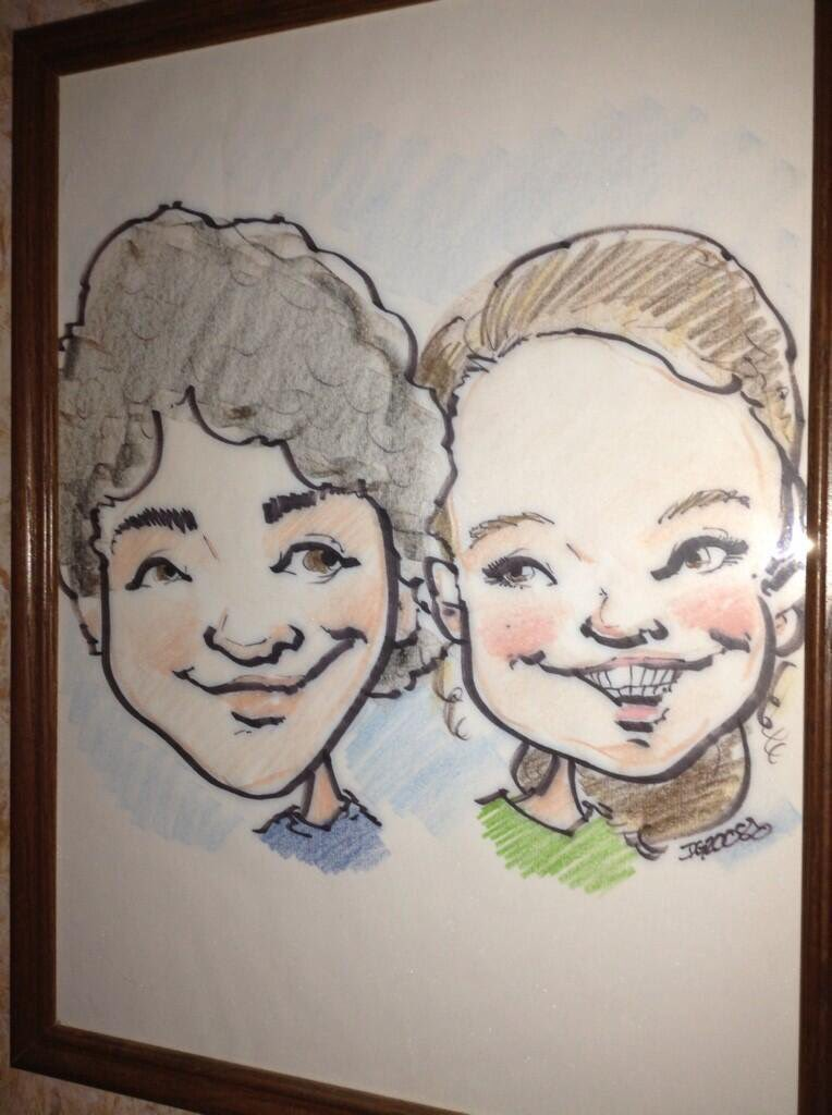 Happy birthday to my one true love Nick Jonas here is a professional caricature of us I have hanging in my hallway