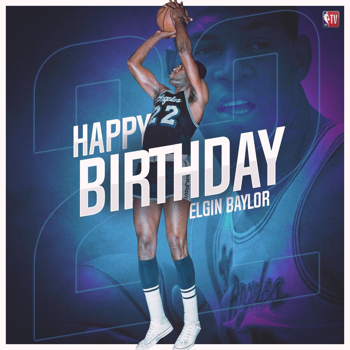 Join us in wishing Hall of Famer and legend, Elgin Baylor, a Happy Birthday!