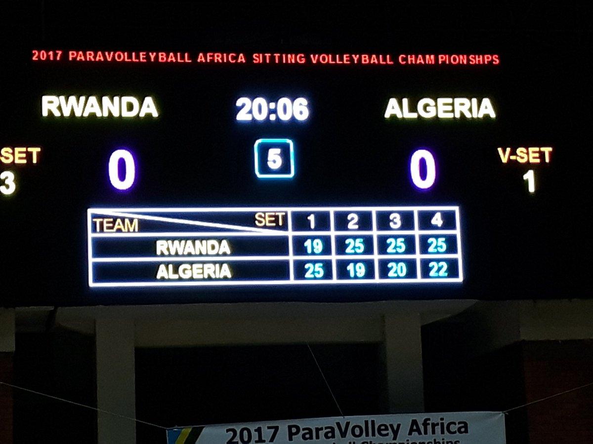 Winning team Rwanda  #RWA Vs #ALG (3-1) #2017AFChamps #sittingvolleyball @Paravolley Final tomorrow at 12:00. Dont miss<br>http://pic.twitter.com/sMqHP7D5Rz
