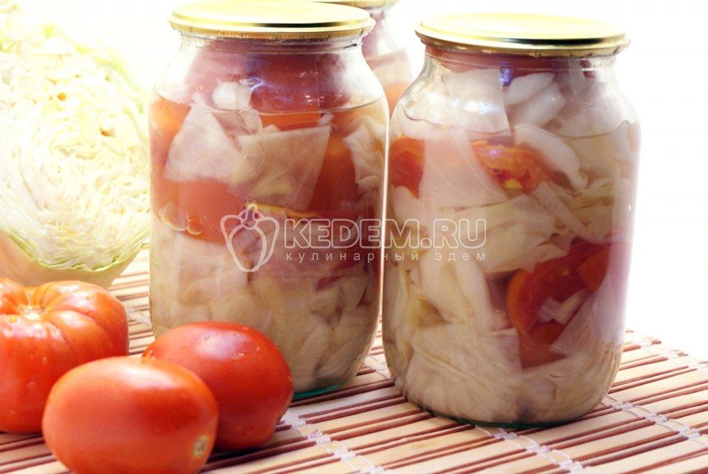 заготовки из капусты и помидоров на зиму