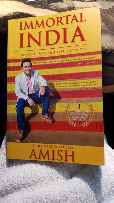 T 2549 - @authoramish writes his next 'Immortal India' .. brushed through some pages .. riveting, absorbing and informative .. get it & read https://t.co/rul0NeaSmr