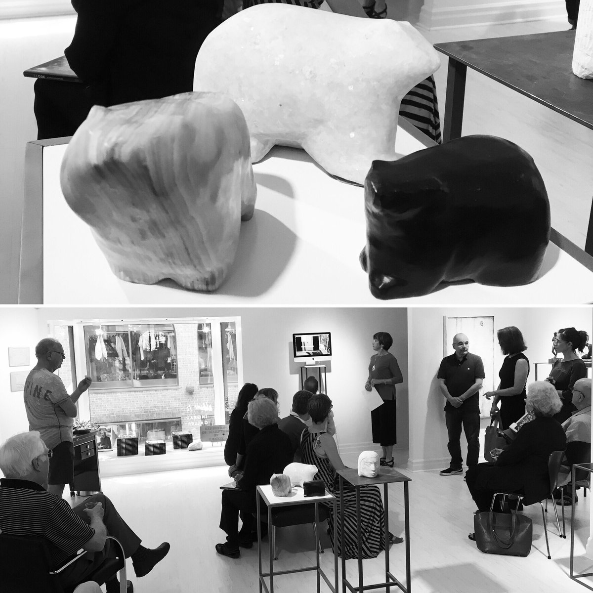 Celebrating the life+work of E.B.Cox. Daughter, Kathy Sutton tells inspired stories #IngramGallery #PublicArt  https:// en.m.wikipedia.org/wiki/E.B._Cox  &nbsp;   #EBCox<br>http://pic.twitter.com/suuvNuKoZc &ndash; at Ingram Gallery
